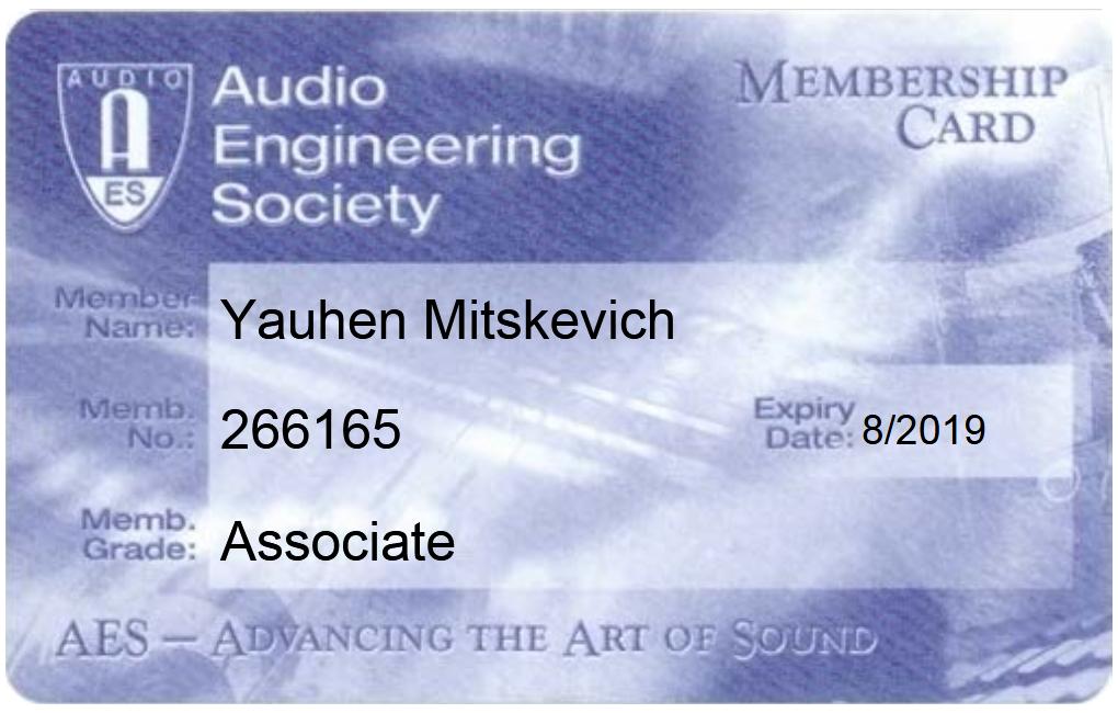 AES Member Card
